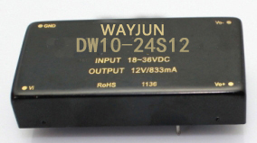 2:1 Wide Input Range,6-12W dual output DC DC Converter