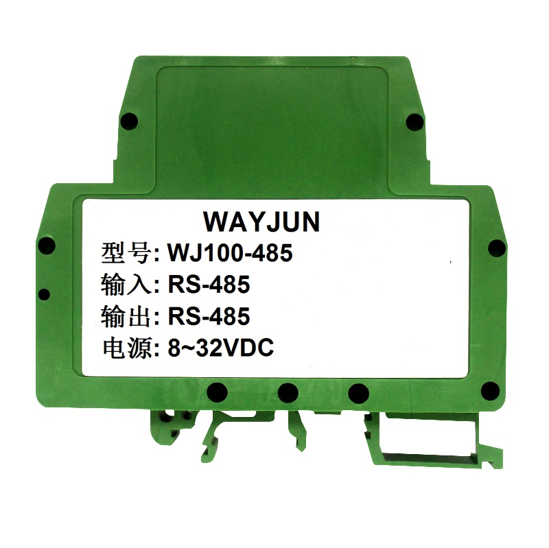Industrial RS-485 isolated repeater amplifier module, WJ100