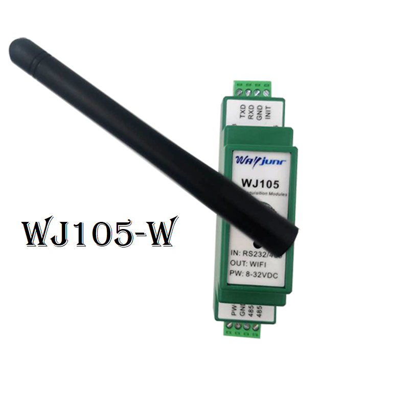 Modbus RTU to TCP module, RS232/485 to WiFi WJ105