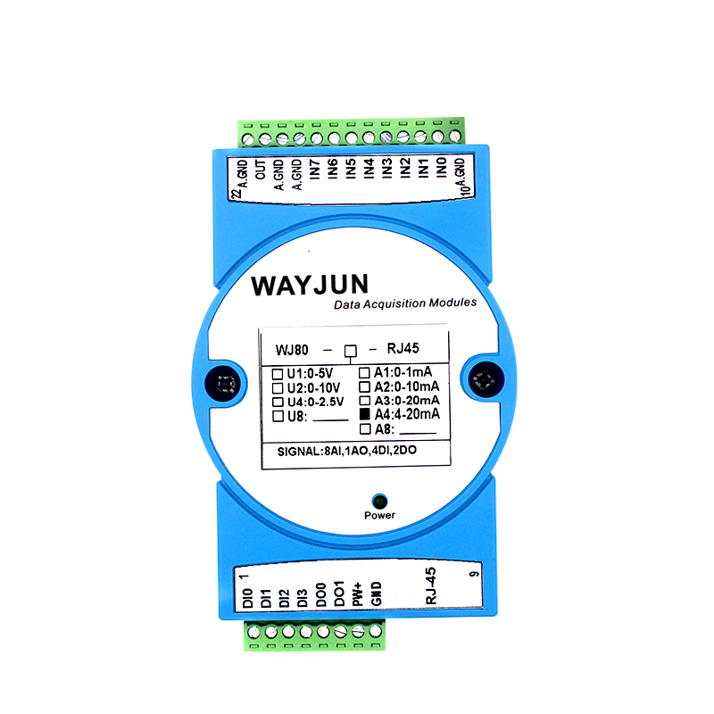 8-CH 4-20mA to Modbus TCP Network Data Acquisition module