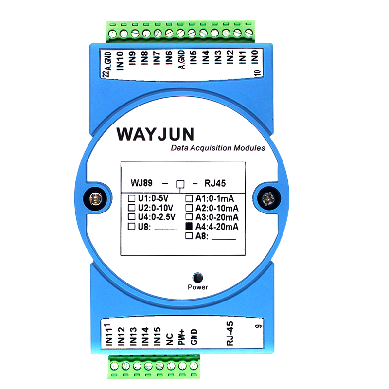 16-CH 4-20mA to Modbus TCP Network Data Acquisition module
