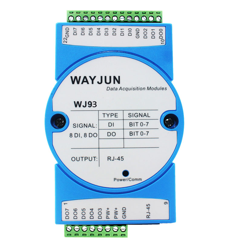 8-CH DI counter, 8-CH DO supports PWM output, MODBUS TCP module