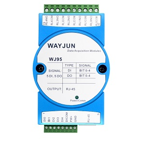5-CH DI,5-CH DO,network relay,Modbus TCP remote I/O module