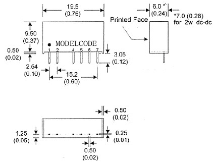 ib1205s-2w/dc-dc电源模块/模块电源 5v双输出